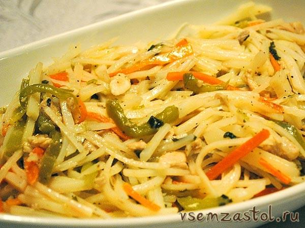 Салат из картошки и моркови рецепт очень вкусный