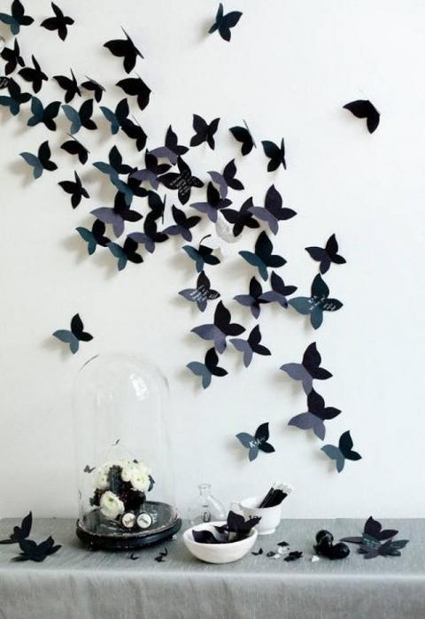 Бабочки для декора своими руками фото