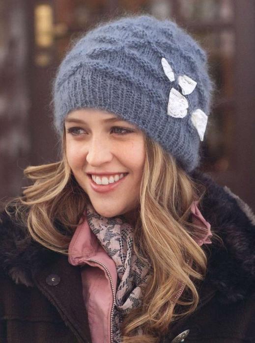 Мохер для вязания шапки