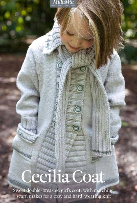 Вязаные пальто для детей (25 фотки ) ::