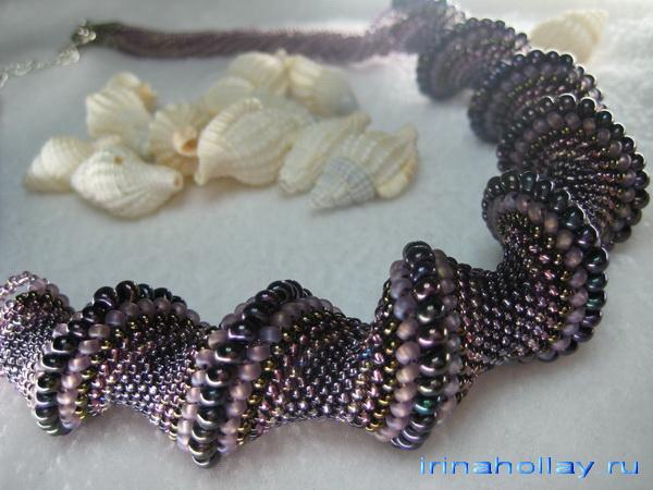 ожерелье из бисера фото.