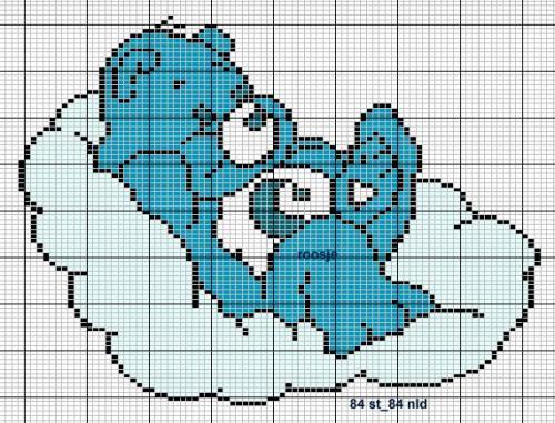 мишка на облаке (500x381,