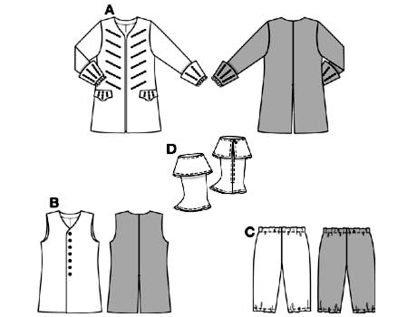 Выкройка костюма пирата своими руками