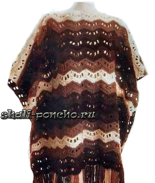 �����-����������-�������_-Poncho-Shokoladnye-zigzagi1 ������� (593x700, 119Kb)