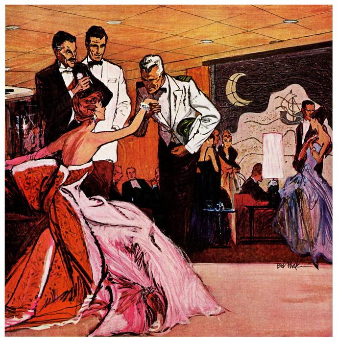 Bob Peak.1958 ... dine and dance all night! (690x700, 472Kb)