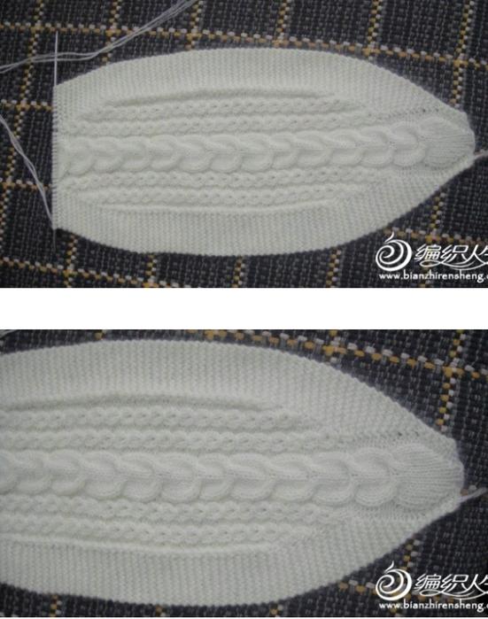 Вязанные шапки спицами от ободка