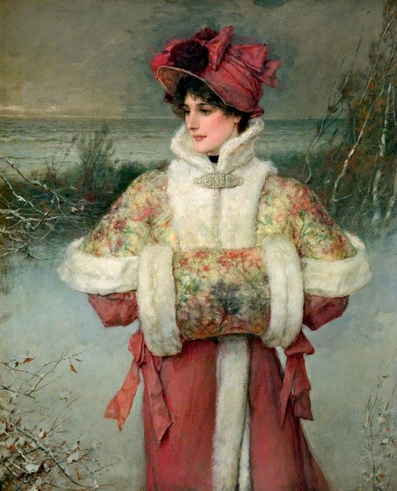 george-henry-boughton.the-lady-of-the-snow- (566x700, 314Kb)