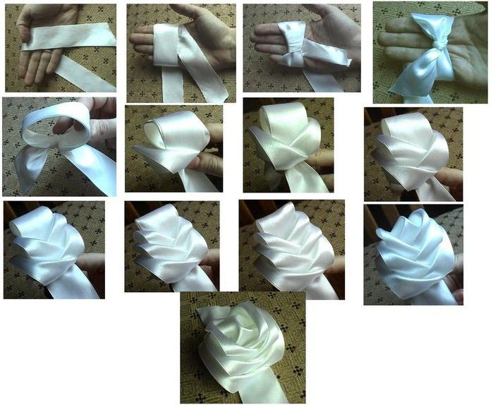 Картинки из ленточек цветы 1
