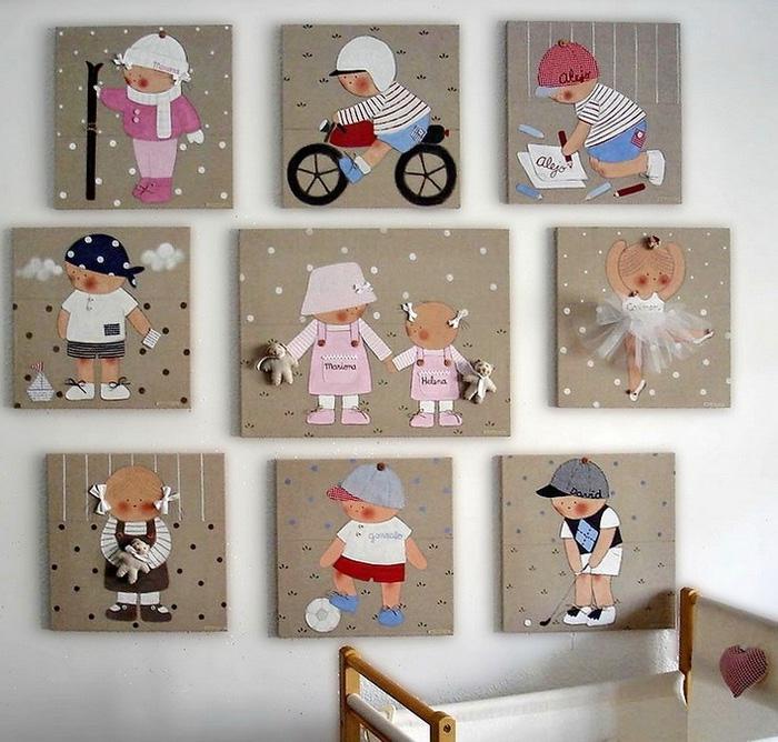 Картины на стены своими руками для детского сада