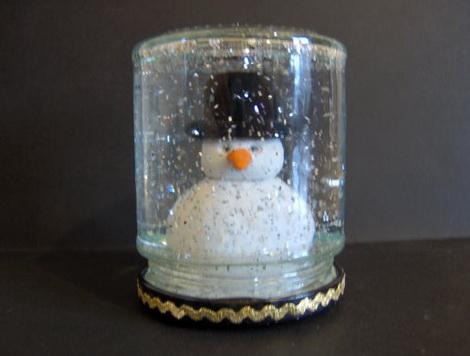 Баночка со снегом своими руками