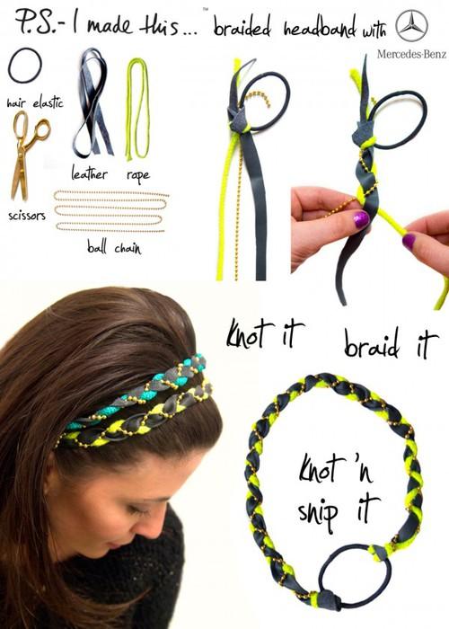 плетенка для волос сделать