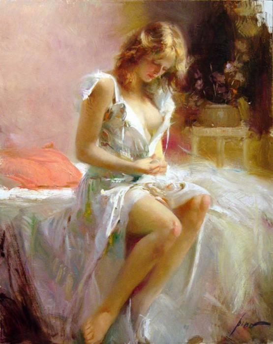 Pino Daeni 1939-2010 - Italian Impressionist painter - Tutt