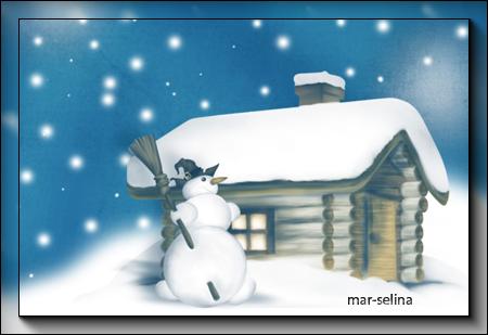 Снеговичок-на-посту (450x309, 157Kb)