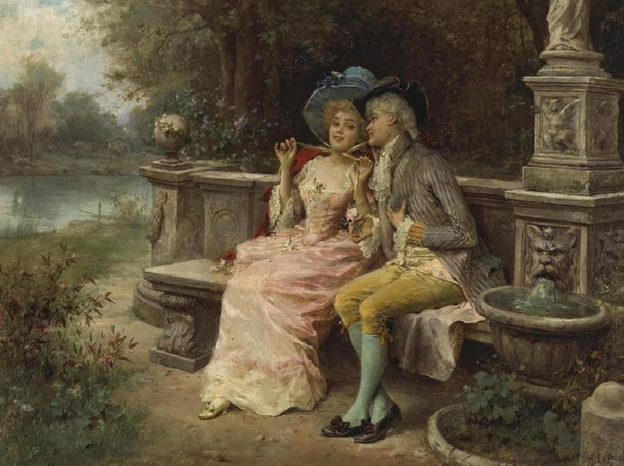antonio-lonza-1846-1918-the-flirting-couple (700x522, 59Kb)