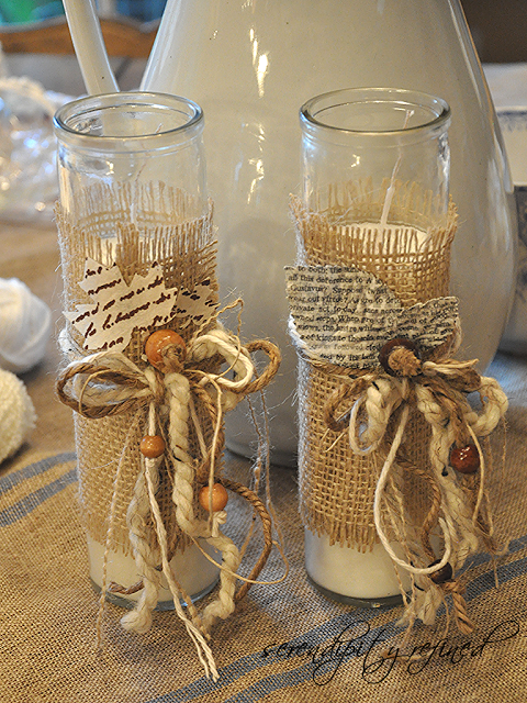 Burlap table decorating ideas