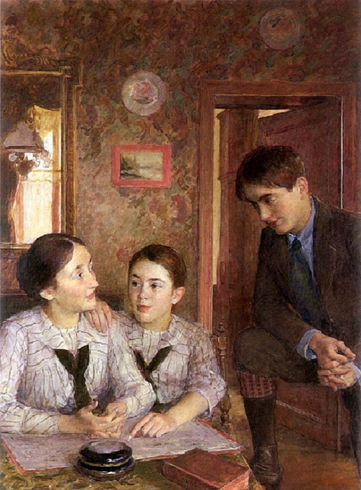 François-Joseph Guignet (1860 – 1937, French)the-lesson (515x700, 313Kb)