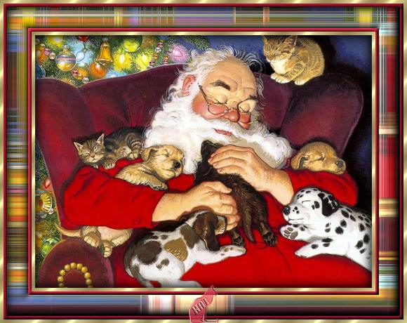 Santa%2520and%2520Friends%2520sleep%2520 (580x460, 62Kb)