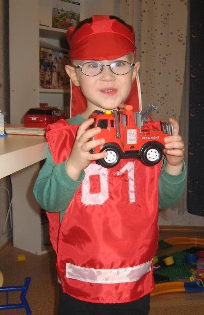 Костюм пожарного для детей