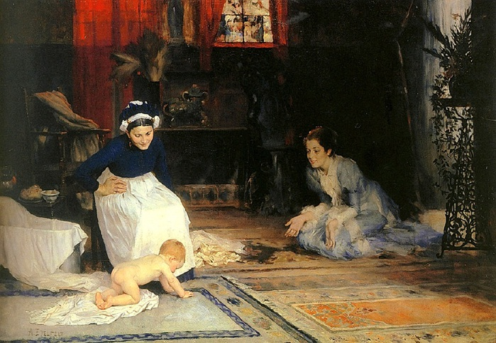 albert Edelfelt-Childrens chamber, 1885 (700x484, 159Kb)