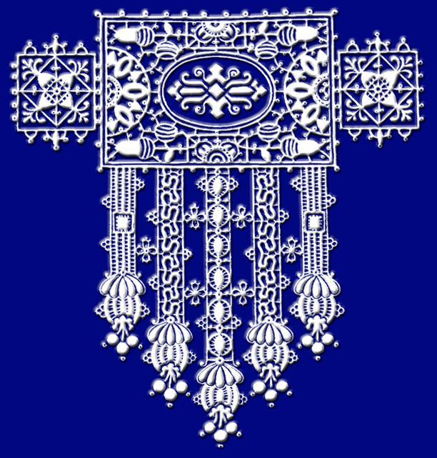 """Вышивка крестом.  Схема вышивки  """"Кружева """".  Оригинал.  Схемы автора  """"malkinaiv """".  При выборе деревянных пялец или..."""