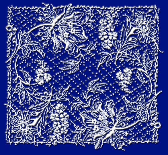 """Схема вышивки  """"Кружева """": таблица цветов."""