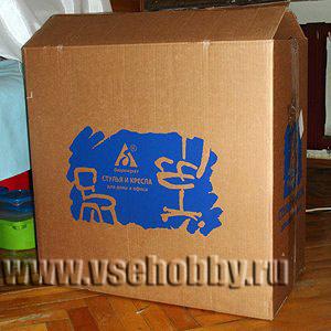 Большая картонная коробка своими руками