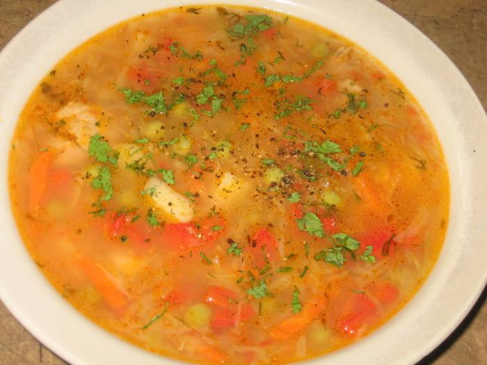 суп с курицей без капусты