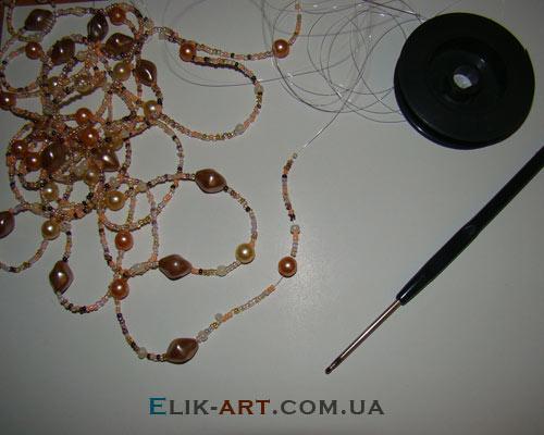 Как сделать ожерелье из лески