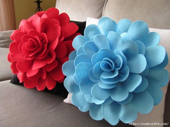 Цветок из фетра фото