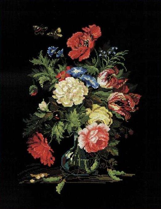 вышивка крестом / цветы