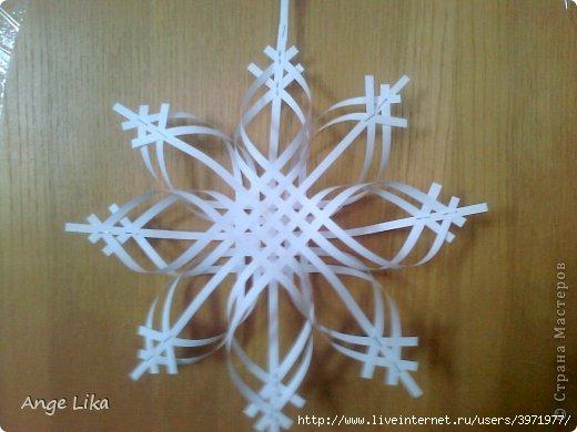 Снежинки подвески из бумаги своими руками