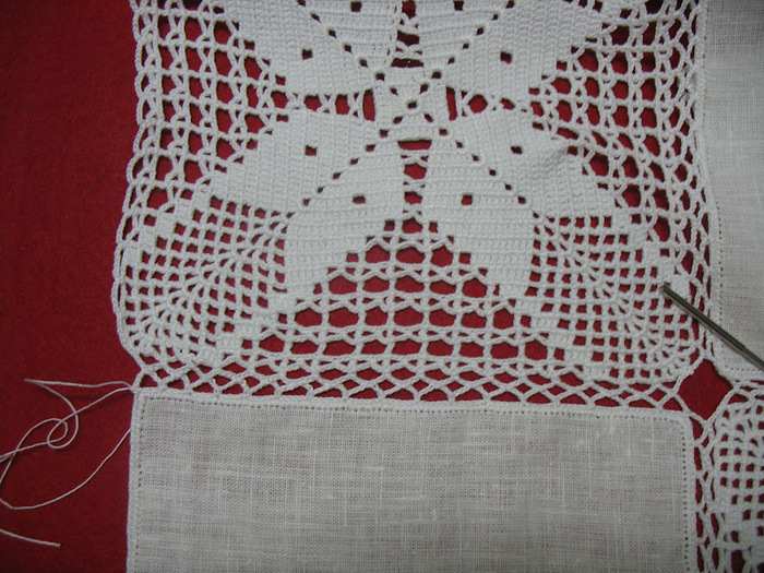 Вязание крючком ткань крючок скатерти