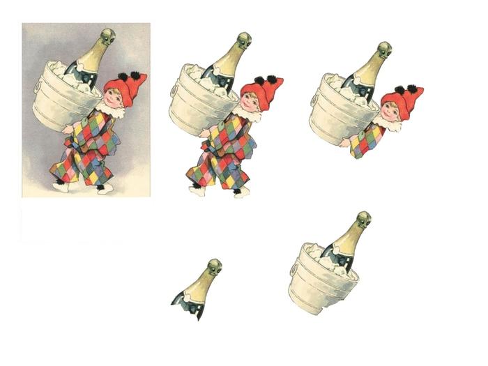 bonne année arlequin et champagne (700x525, 109Kb)