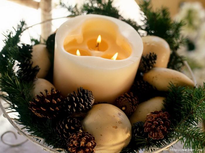 Чем украсить свечи на новый год своими