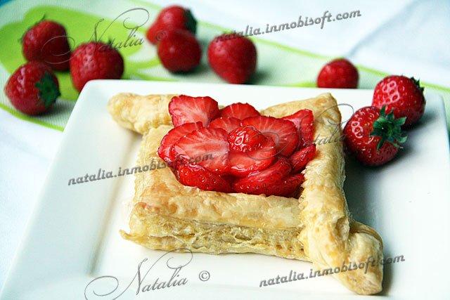 Слоеное тесто с фруктами рецепт с фото
