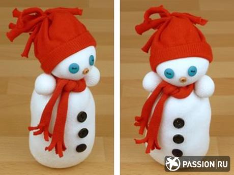 Поделки своими руками снеговик - Поделки, делаем самостоятельно