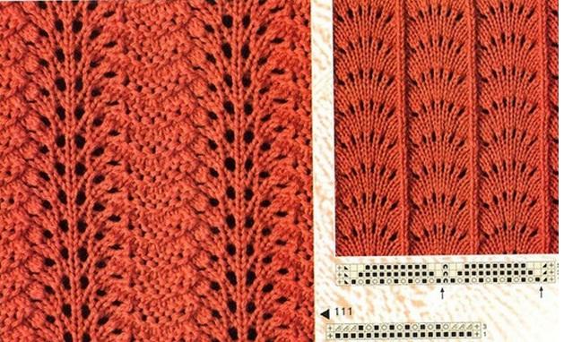 Узоры, схемы спицами - Вязание