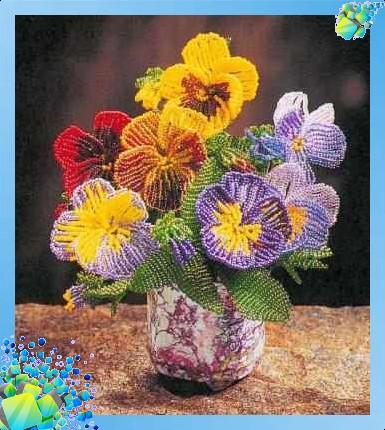 Бисероплетение для начинающих. .  Цветы.