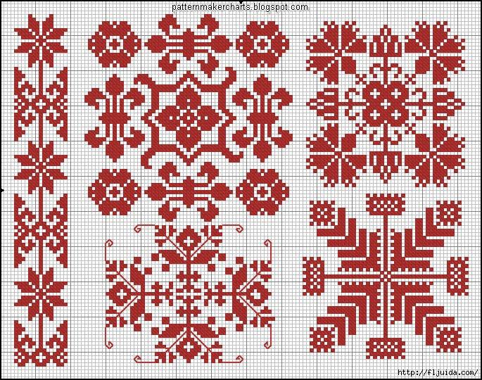 Узор и орнамент вышивка крестом 918