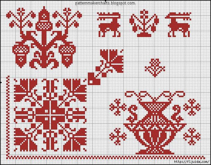Схемы для вышивания славянских узоров