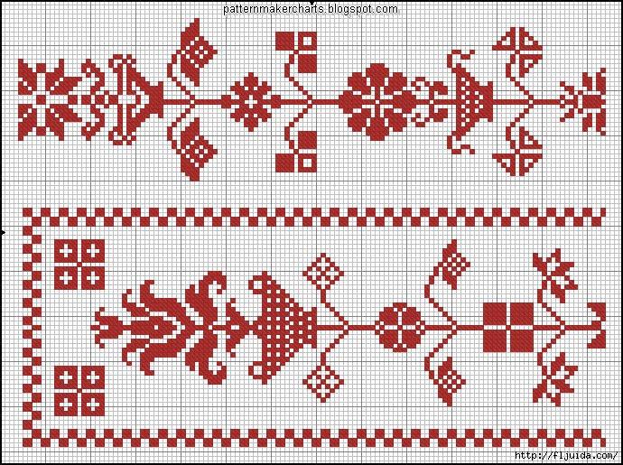 Вышивка схема славянского рушник