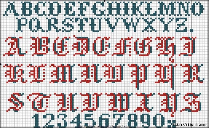Alphabete u. Muster zum Waschezeichnen und Sticken iv 2 (700x427, 326Kb)