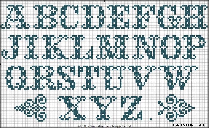 Alphabete u. Muster zum Waschezeichnen und Sticken iv 4 (700x427, 304Kb)