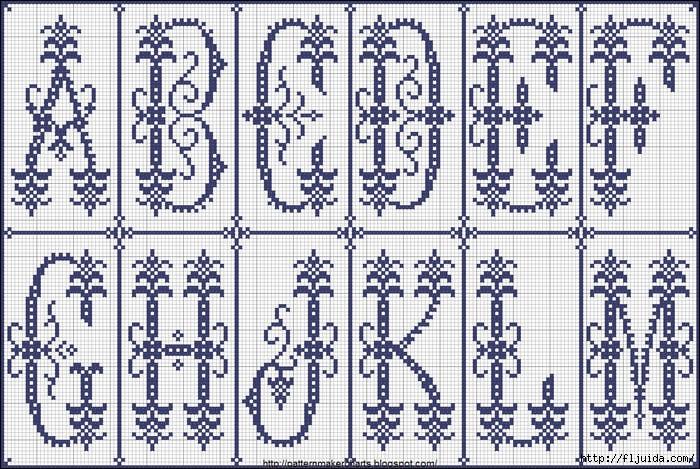 Монохромные алфавиты и буквы 3.