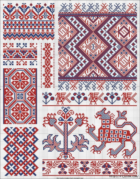 Collected velikorusskih and malorossiyskih patterns for embroidery - 04 (546x700, 575Kb)