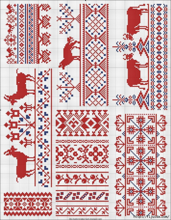 Collected velikorusskih and malorossiyskih patterns for embroidery - 06 (546x700, 523Kb)