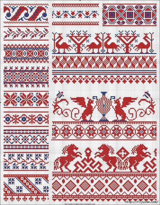 Collected velikorusskih and malorossiyskih patterns for embroidery - 08 (546x700, 549Kb)