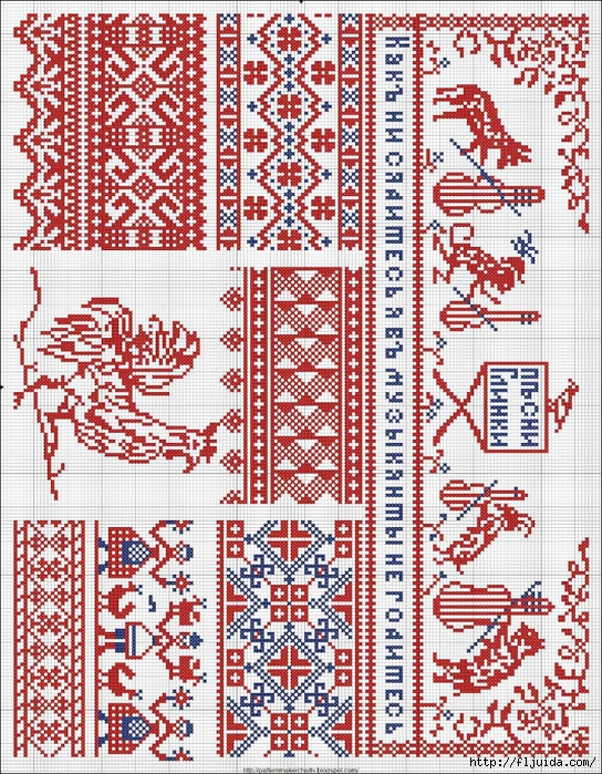 Collected velikorusskih and malorossiyskih patterns for embroidery - 10 (544x700, 539Kb)