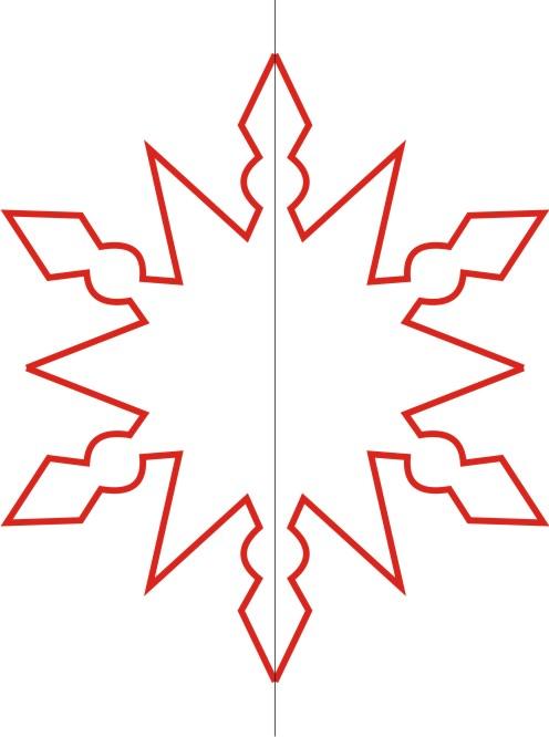 Как сделать красивую снежинку из картона