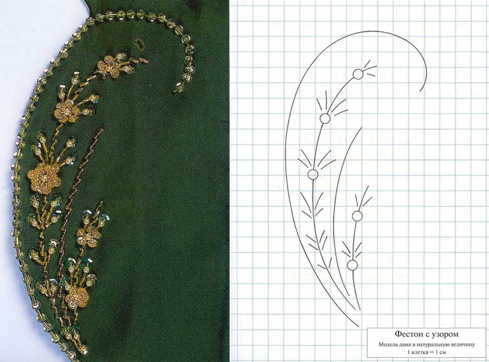 Это изображение можете просмотреть в рубрике Как сшить праздничную тунику и Бисер вышивание на одежде и Вязанное...